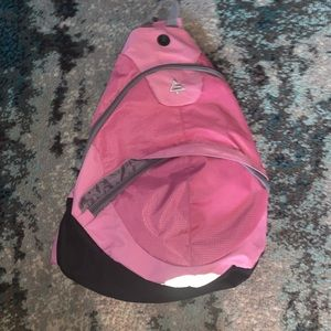 Pink backpack- good condition